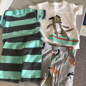 Bundle 2 Baby boy Carter's sets Size 6